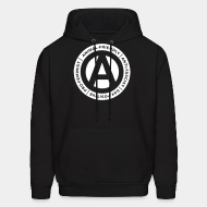 Hoodie sweatshirt Animal-friendly / anti-fascist / gay-positive / pro-feminist