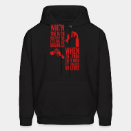 Hoodie sweatshirt When the rich rob the poor it's called business - When the poor fight back it's called violence