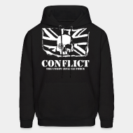 Hoodie sweatshirt Conflict - The ungovernable force