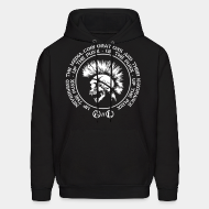 Hoodie sweatshirt Up the punx - Nevermind the media, corporations and their ignorance