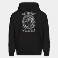 Hoodie sweatshirt Refugees Welcome