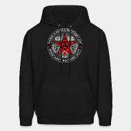 Hoodie sweatshirt When injustice becomes law resistance becomes duty - class war fight the power