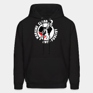 Hoodie sweatshirt Working class anti-fascist