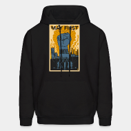 Hoodie sweatshirt May first unite! the mighty nintey nine