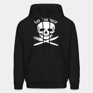 Hoodie sweatshirt Eat the rich