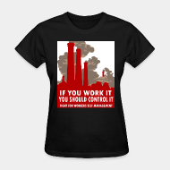 T-shirt féminin If you work it you should control it - fight for workers self management