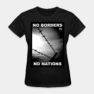 T-shirt féminin No borders no nations