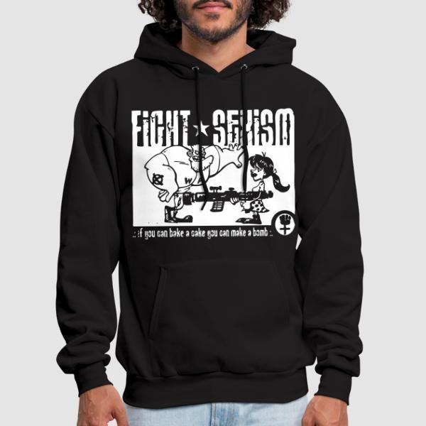 Fight sexism - if you can bake a cake you can make a bomb - Sweat à capuche (Hoodie) Féministe