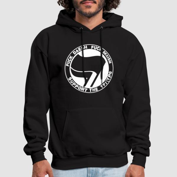 Fuck Daesh, fuck sexism. Support the YPJ/YPG - Sweat à capuche (Hoodie) Rojava