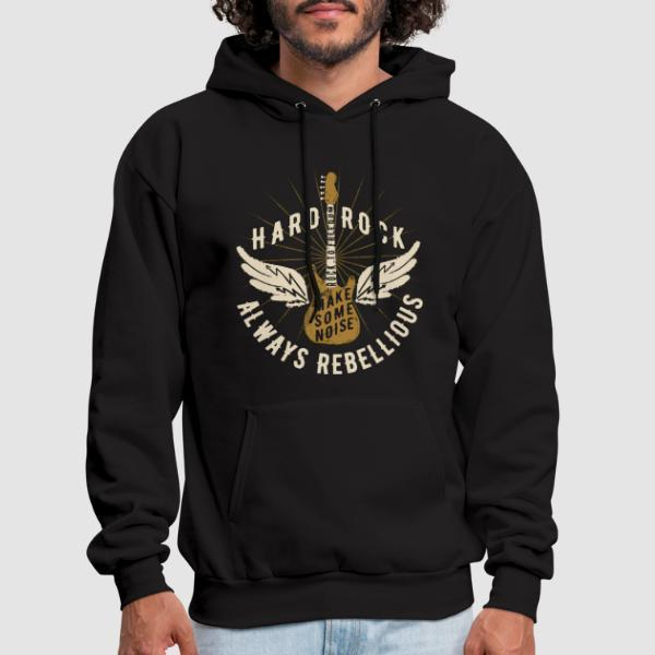 Hard rock always rebellious - let's make some noise - Sweat à capuche (Hoodie) Punk