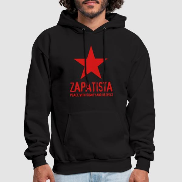 Zapatista. Peace with dignity and respect - Sweat à capuche (Hoodie) Zapatiste