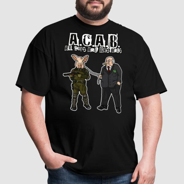 A.C.A.B All Cops Are Bastards - T-shirt ACAB anti-violence-policiere