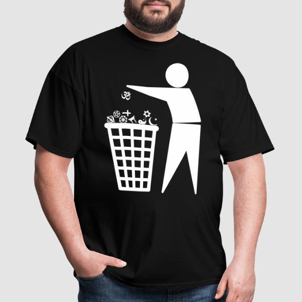 Against all religions - T-shirt Athé