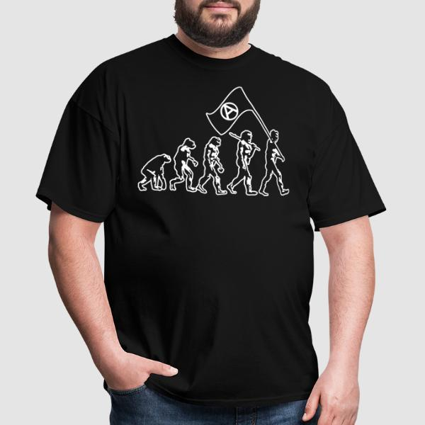 Anarchist evolution - T-shirt humour engagé