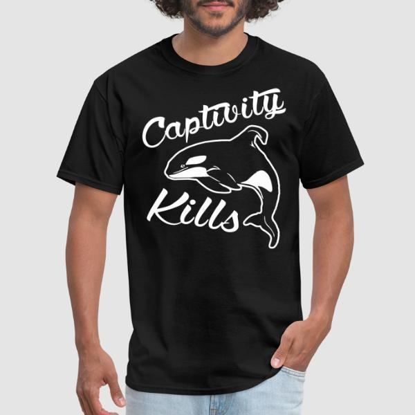 Captivity kills - T-shirt véganes et libération animale
