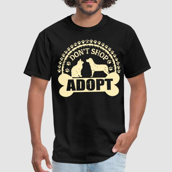 Don't shop adopt - T-shirt véganes et libération animale