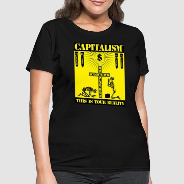 Capitalism - this is your reality - T-shirt féminin Militant