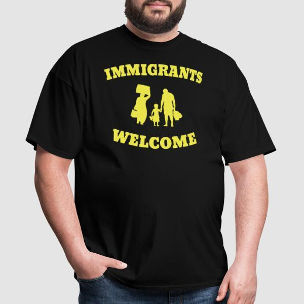 Immigrants welcome - T-shirt Anti-Fasciste