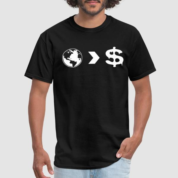 Our planet is more important than their profits - T-shirt Environnementaliste