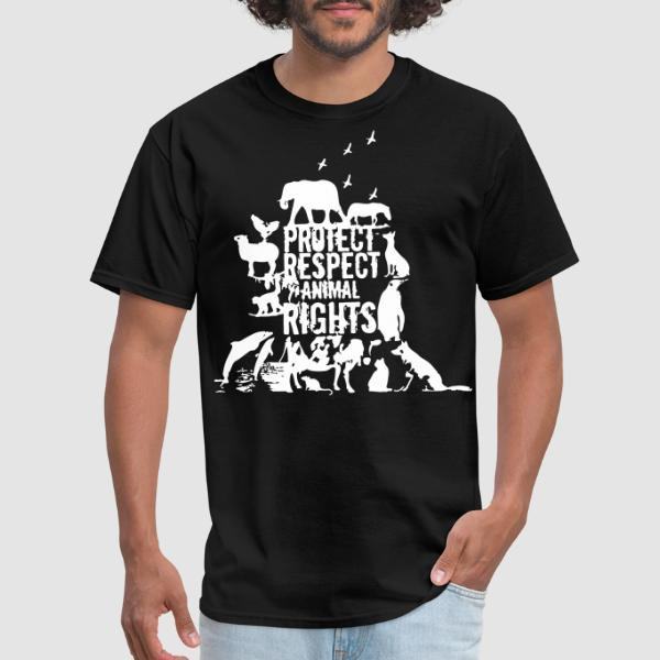 Protect respect animal rights - T-shirt véganes et libération animale