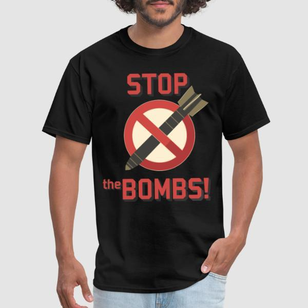 Stop the bombs - T-shirt anti-guerre