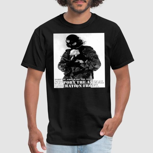 Support the animal liberation front - T-shirt véganes et libération animale