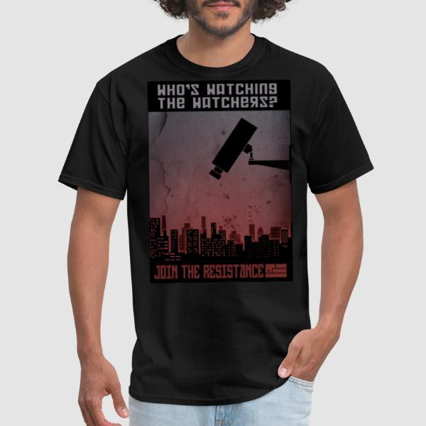 Who's watching the watchers? Join the resistance - T-shirt ACAB anti-violence-policiere