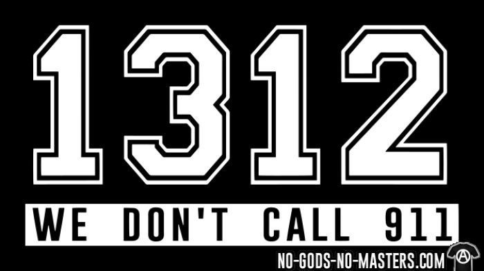 1312 we don't call 911 - T-shirt ACAB anti-violence-policiere