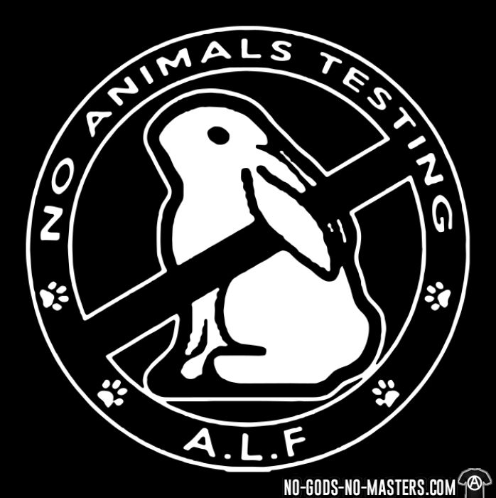A.L.F. no animals testing - T-shirt véganes et libération animale