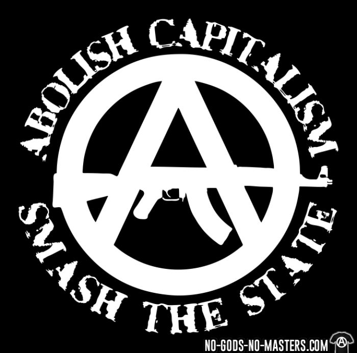 Abolish capitalism smash the state - T-shirt Militant