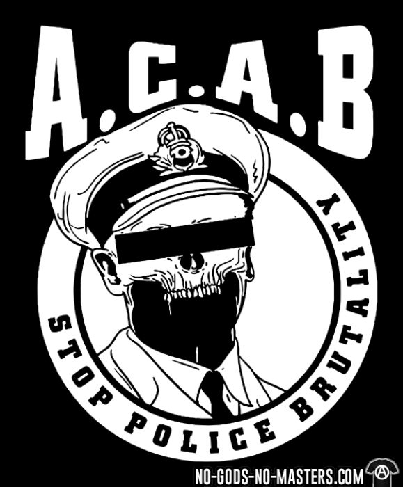 Acab / Stop police brutality  - T-shirt ACAB anti-flic