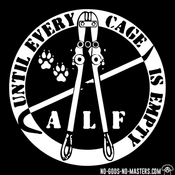ALF until every cage is empty - T-shirt véganes et libération animale