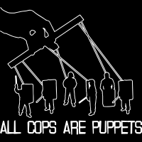 All cops are puppets - T-shirt ACAB anti-flic