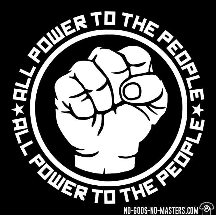 All power to the people - T-shirts pour enfant Militant