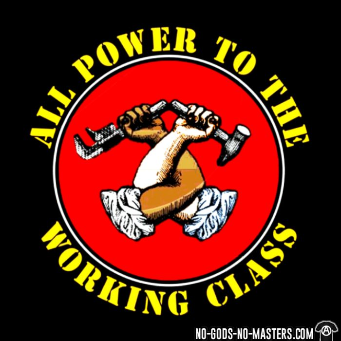 All power to the working class - Chandails à manches longues Working Class