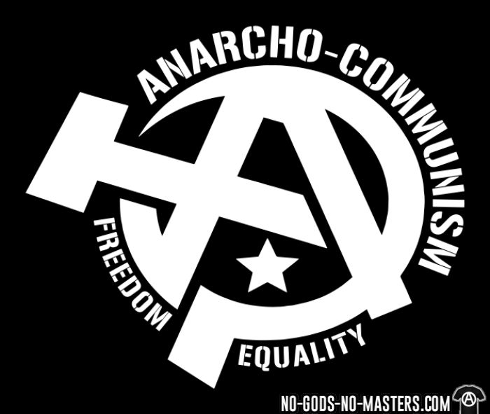 Anarcho-communism. Freedom, equality - T-shirt Militant