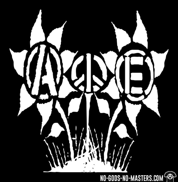 Anarchy Peace Equality Flowers - T-shirt Militant