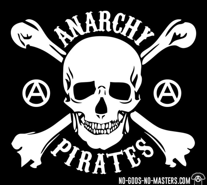 Anarchy pirates - T-shirt Militant