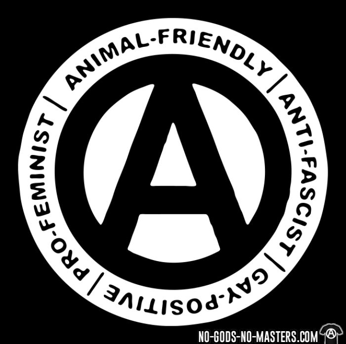 Animal-friendly / anti-fascist / gay-positive / pro-feminist - T-shirt Militant