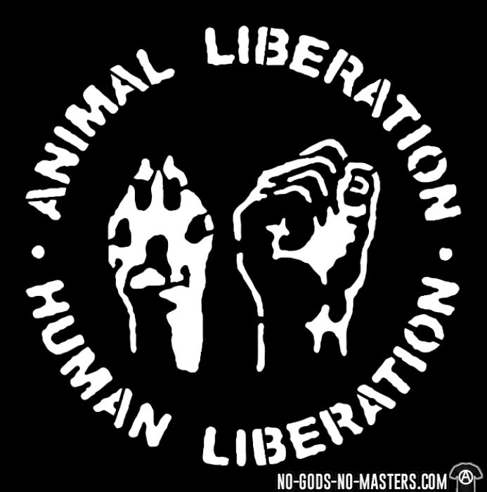 Animal liberation - human liberation - Sweat à capuche (Hoodie) véganes et libération animale