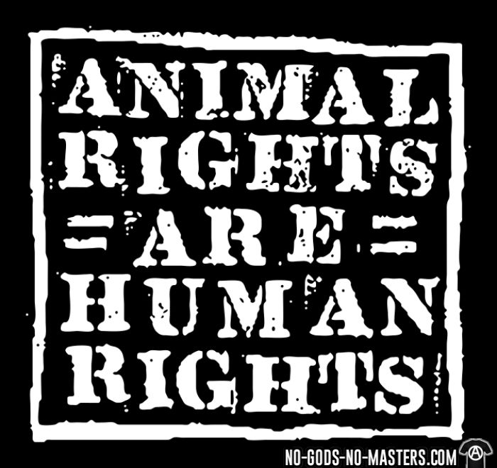 Animal rights are human rights - Sweat à capuche (Hoodie) véganes et libération animale