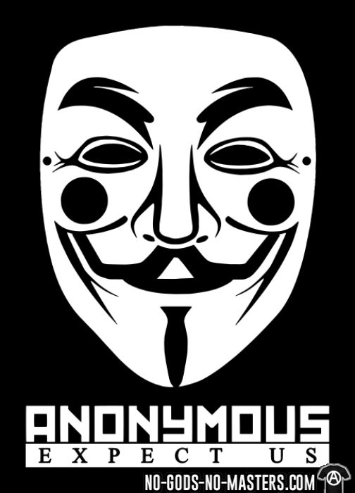 Anonymous. Expect us - T-shirt Anonymous
