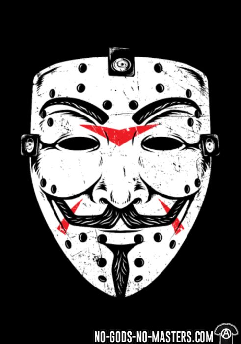 Anonymous mask Friday 13th - T-shirt Anonymous