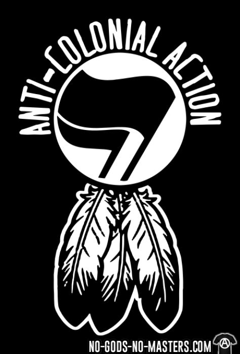 Anti-colonial action - T-shirt Anti-Fasciste