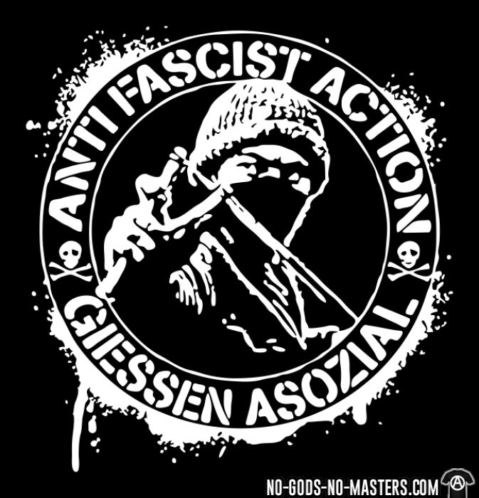Anti fascist action giessen asozial - T-shirt Anti-Fasciste