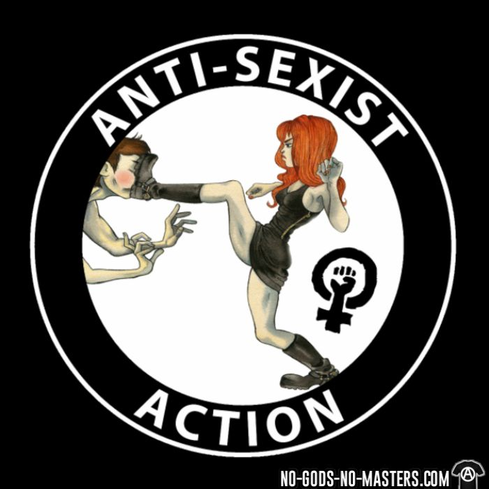 Anti-sexist action  - T-shirt Féministe