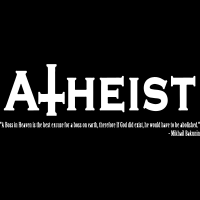 Atheist - A boss in Heaven is the best excuse for a boss on earth, therefore if God did exist, he would have to be abolished (Mikhail Bakunin) - T-shirt Athé