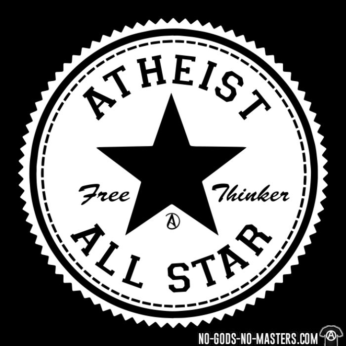 Atheist all star - free thinker  - T-shirt Athé