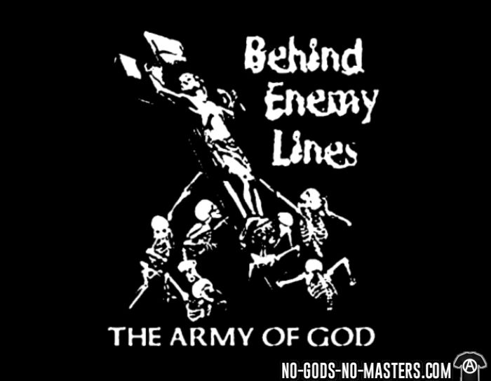 Behind Enemy Lines - the army of god - Chandails à manches longues Band Merch