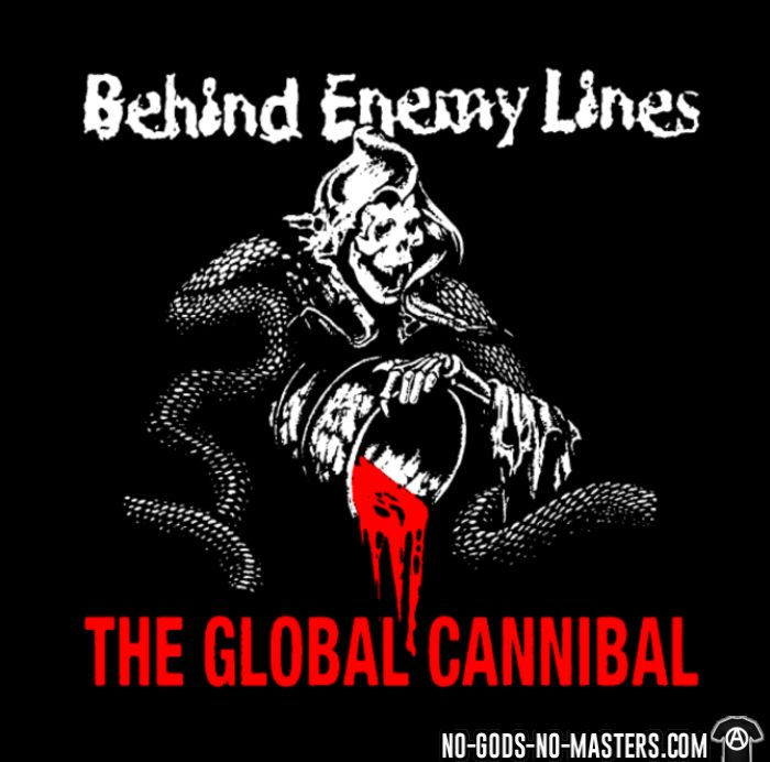 Behind Enemy Lines - The global cannibal - T-shirt organique Band Merch